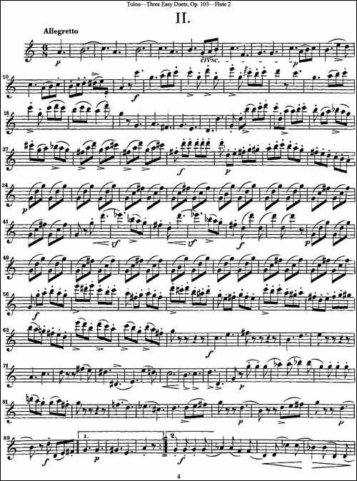 图露三首长笛简易重奏曲Op.103_Flute-2_NO.2_长笛五线谱|长笛谱