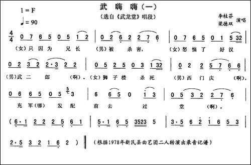 武嗨嗨_一-[《武龙堂》唱段]_二人转谱 戏谱