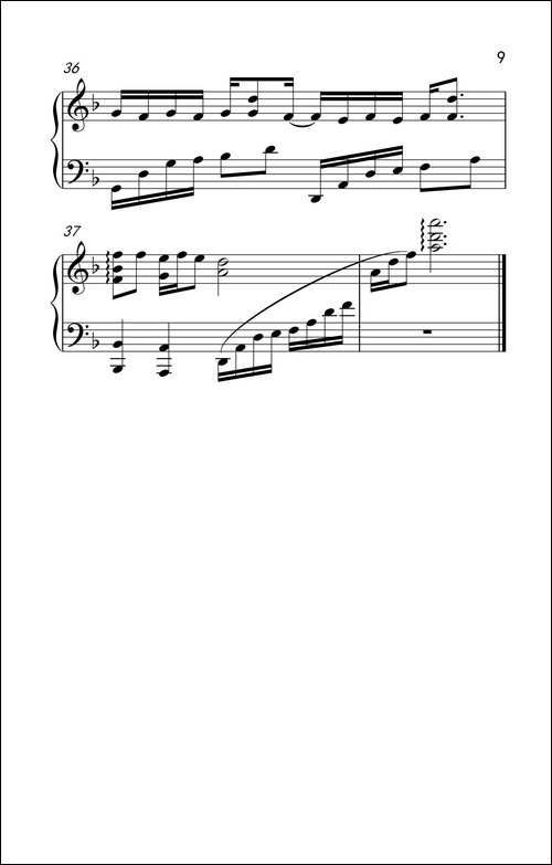 漂洋过海来看你_钢琴五线谱 钢琴简谱 钢琴_萨克斯俱乐部(www.