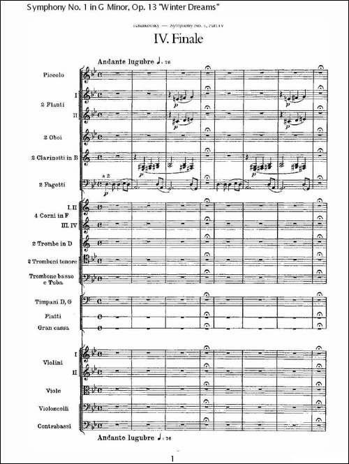 G小调第一交响曲,-Op.13-----冬天的梦幻Op.13第四乐章_一_其他谱