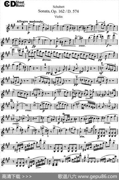 ViolinSonatainAmajorOp.162D.574