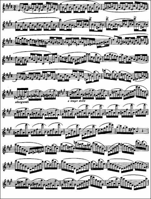 柯勒长笛练习曲作品33号-第三册-1-长笛五线谱 长笛谱