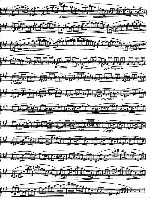 柯勒长笛练习曲作品33号-第三册-3-长笛五线谱|长笛谱