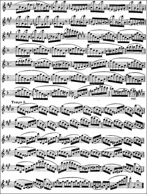柯勒长笛练习曲作品33号-第三册-7-长笛五线谱|长笛谱