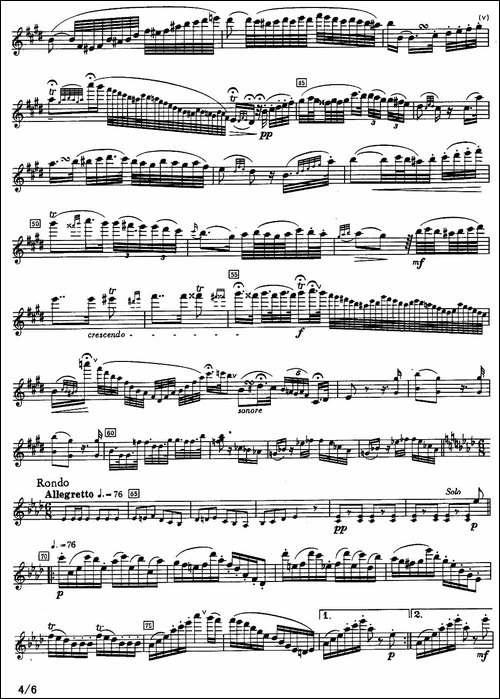 fantaisie-sur-un-air-de-Schubert-长笛五线谱|长笛谱