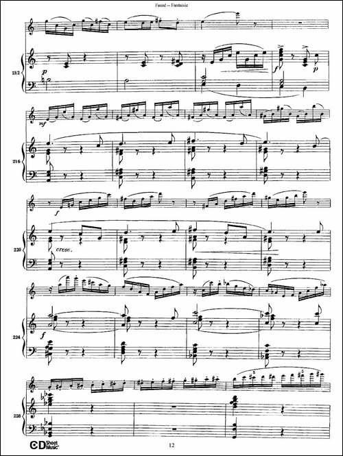 Fantaisie-Op.79-幻想曲-作品79号-长笛+钢琴伴-长笛五线谱 长笛谱