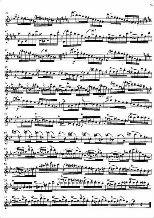 第二单元-中高级练习:装饰音吹奏练习-乐曲:随-长笛五线谱|长笛谱