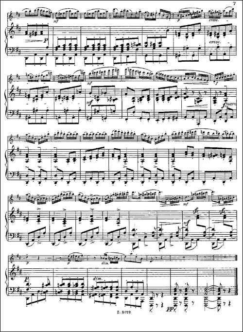 Die-Mühle-Op.55-No.4-长笛+钢琴伴奏-长笛五线谱|长笛谱