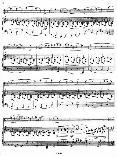 Albumblatt-Op.55-No.7-长笛+钢琴伴奏-长笛五线谱 长笛谱