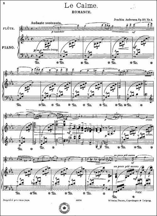 Le-Calme-Op.57-No.1-长笛+钢琴伴奏-长笛五线谱 长笛谱