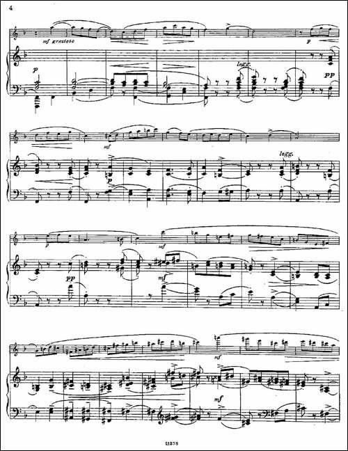 Le-Tourbillon-Op.57-No.3-长笛+钢琴伴奏-长笛五线谱|长笛谱