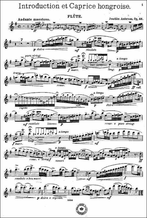 Introduction-et-Caprice-Op.58-长笛五线谱 长笛谱
