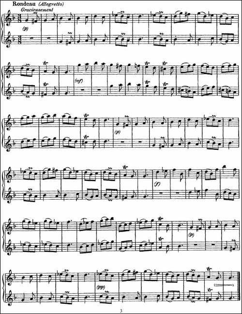 G大调双长笛奏鸣曲作品1号之2-Sonata-in-G-Maj-长笛五线谱|长笛谱