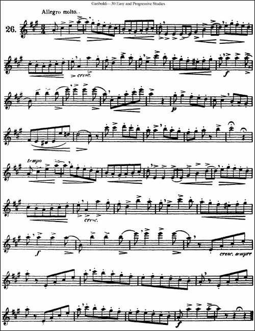 三十首基础及提高练习曲-NO.26-长笛五线谱|长笛谱