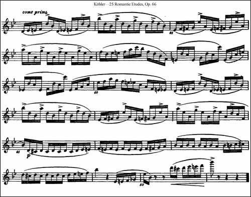 25首浪漫练习曲作品66号-NO.21-长笛五线谱|长笛谱
