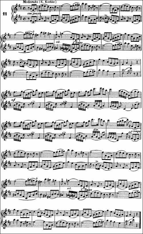 柯勒40首长笛提高练习曲OP.55-NO.11-长笛五线谱|长笛谱