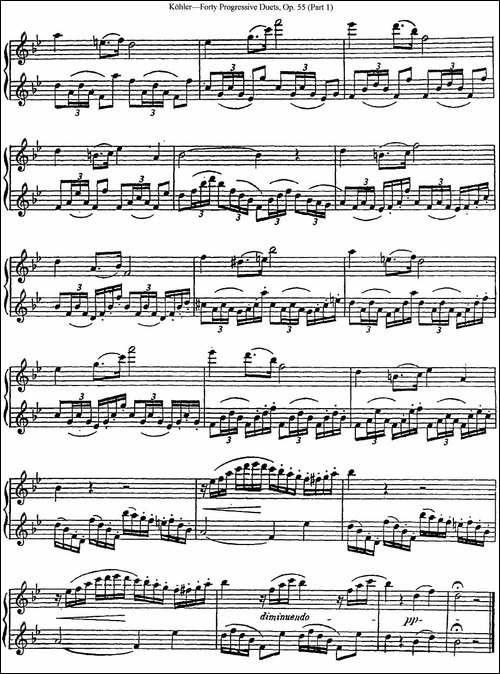 柯勒40首长笛提高练习曲OP.55-NO.23-长笛五线谱 长笛谱