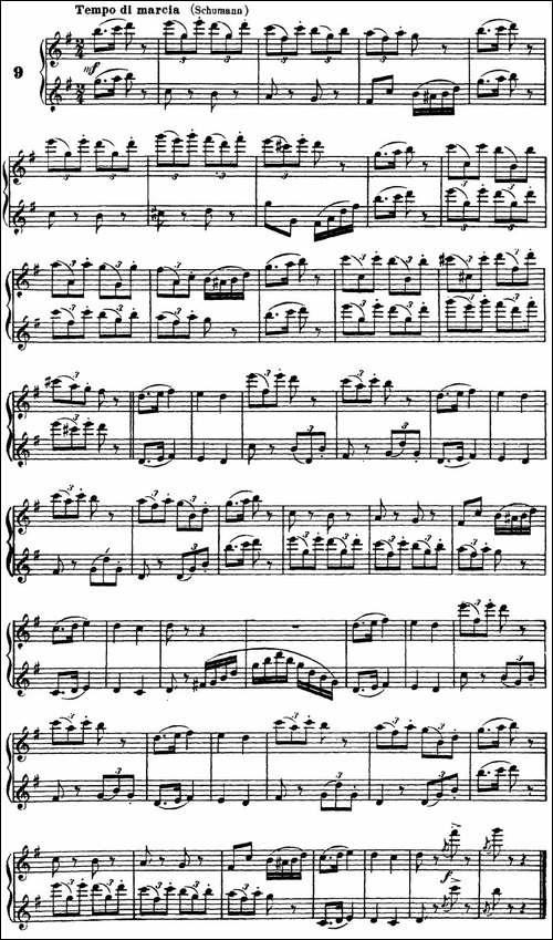 柯勒40首长笛提高练习曲OP.55-二重奏-NO.9-长笛五线谱 长笛谱
