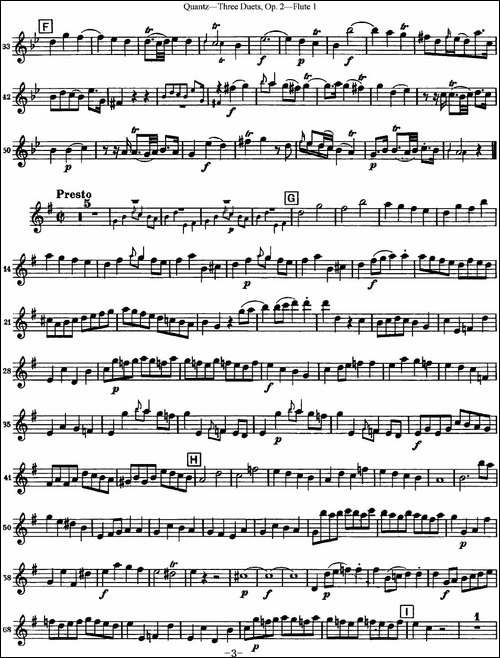 匡茨G大调长笛二重奏Op.2——Flute-1-No.1-长笛五线谱|长笛谱