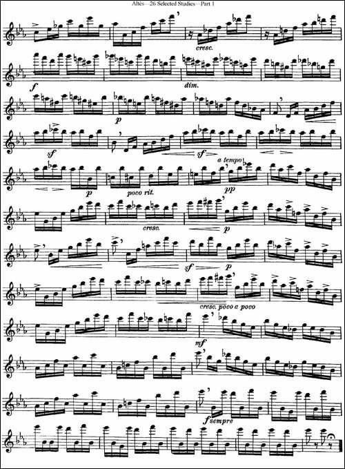阿尔泰斯26首精选长笛练习曲-NO.2-长笛五线谱|长笛谱