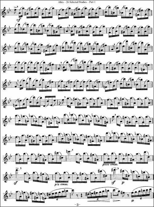 阿尔泰斯26首精选长笛练习曲-NO.10-长笛五线谱|长笛谱