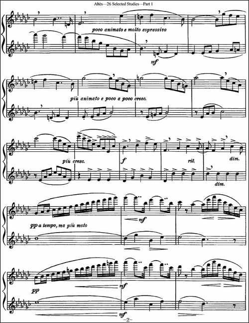 阿尔泰斯26首精选长笛练习曲-NO.11-长笛五线谱|长笛谱