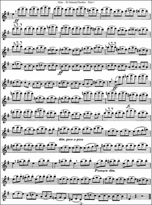 阿尔泰斯26首精选长笛练习曲-NO.15-长笛五线谱 长笛谱
