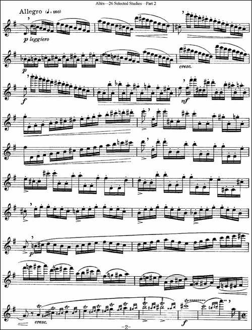阿尔泰斯26首精选长笛练习曲-NO.25-长笛五线谱|长笛谱