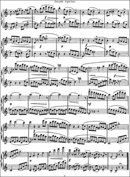 8首博瑞西亚第长笛二重奏-NO.1-长笛五线谱 长笛谱