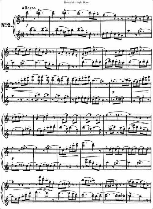 8首博瑞西亚第长笛二重奏-NO.2-长笛五线谱|长笛谱