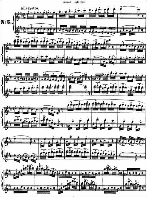 8首博瑞西亚第长笛二重奏-NO.5-长笛五线谱|长笛谱