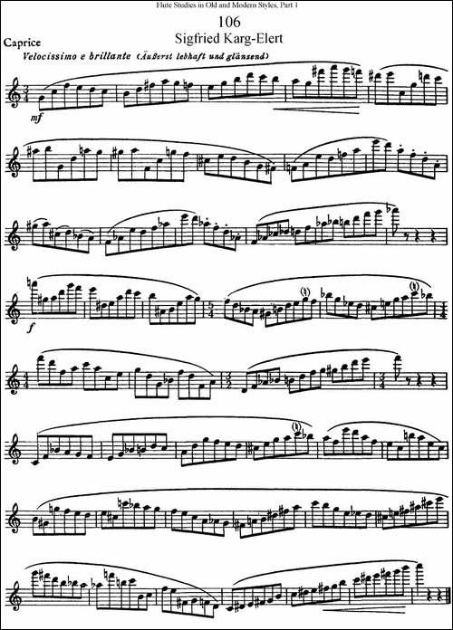 斯勒新老风格长笛练习重奏曲-第一-NO.106-长笛五线谱 长笛谱