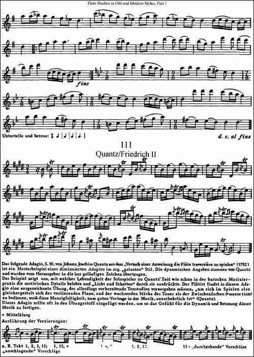斯勒新老风格长笛练习重奏曲-第一-NO.109-NO.1-长笛五线谱 长笛谱