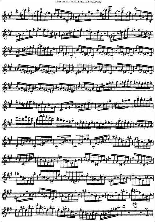 斯勒新老风格长笛练习重奏曲-第二-NO.9-NO.10-长笛五线谱 长笛谱