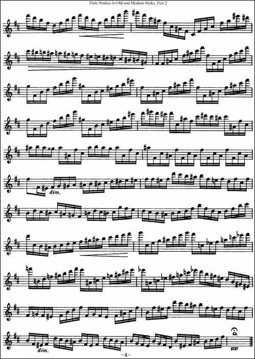斯勒新老风格长笛练习重奏曲-第二-NO.25-长笛五线谱|长笛谱