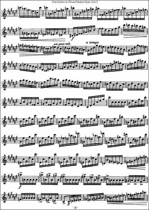 斯勒新老风格长笛练习重奏曲-第二-NO.34-长笛五线谱 长笛谱