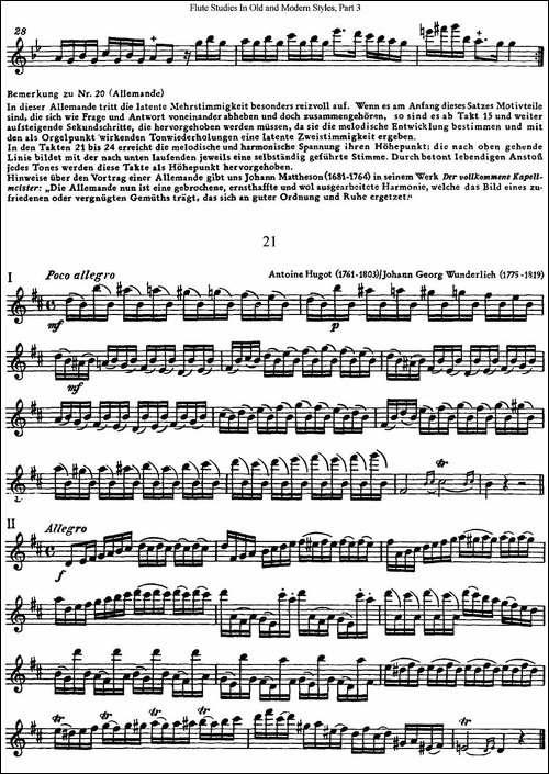 斯勒新老风格长笛练习重奏曲-第三-NO.20-NO.21-长笛五线谱|长笛谱
