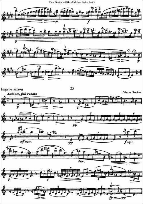 斯勒新老风格长笛练习重奏曲-第三-NO.24-NO.25-长笛五线谱 长笛谱
