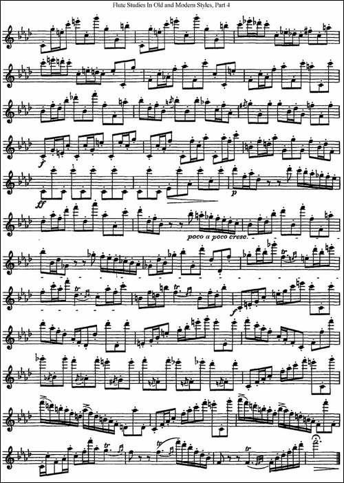 斯勒新老风格长笛练习重奏曲-第四-NO.3-NO.4-长笛五线谱|长笛谱