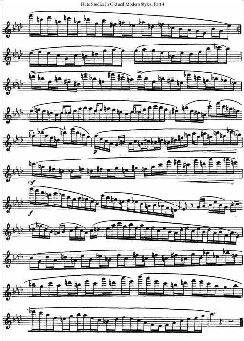 斯勒新老风格长笛练习重奏曲-第四-NO.10-NO.11-长笛五线谱|长笛谱