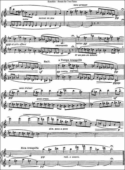 考埃琳双长笛奏鸣曲-NO.1-长笛五线谱|长笛谱