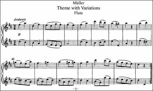 弥勒长笛二重奏-长笛五线谱|长笛谱