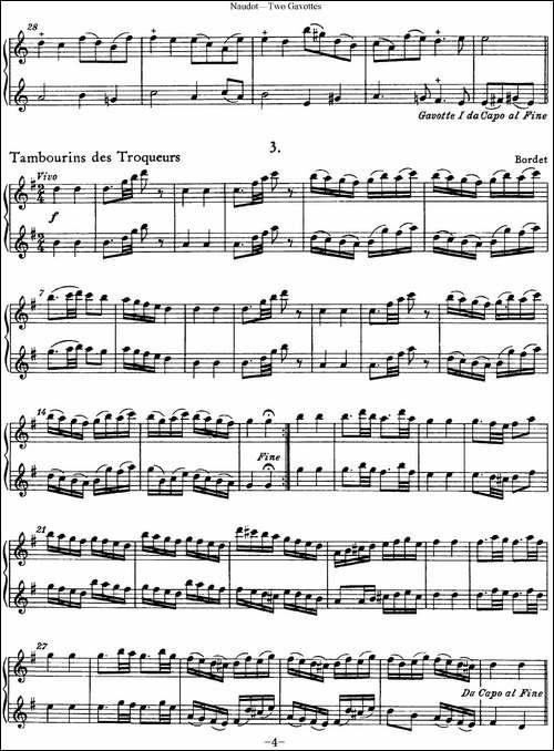 纳都特加沃特舞曲长笛重奏二首-长笛五线谱 长笛谱