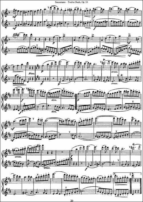 苏斯曼12首长笛重奏曲Op.53-NO.10-NO.11-长笛五线谱|长笛谱