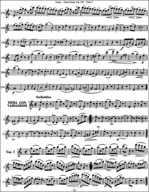 图露三首长笛简易重奏曲Op.104-Flute-2-NO.1-长笛五线谱 长笛谱