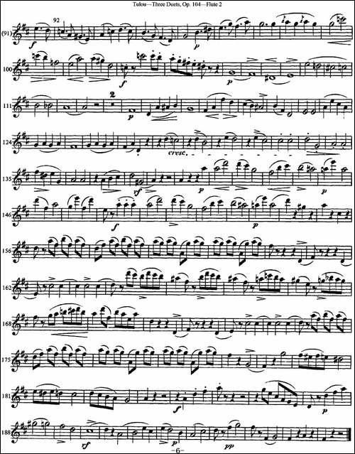 图露三首长笛简易重奏曲Op.104-Flute-2-NO.2-长笛五线谱|长笛谱