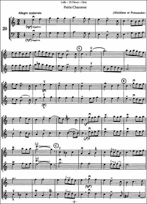 卢黎20首长笛附带钢琴伴奏曲-长笛五线谱 长笛谱