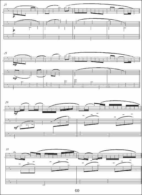 Canon-in-D-长笛+钢琴-长笛五线谱|长笛谱