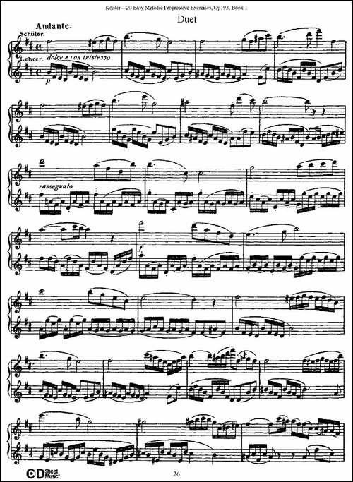 柯勒练习曲作品93号-长笛五线谱 长笛谱
