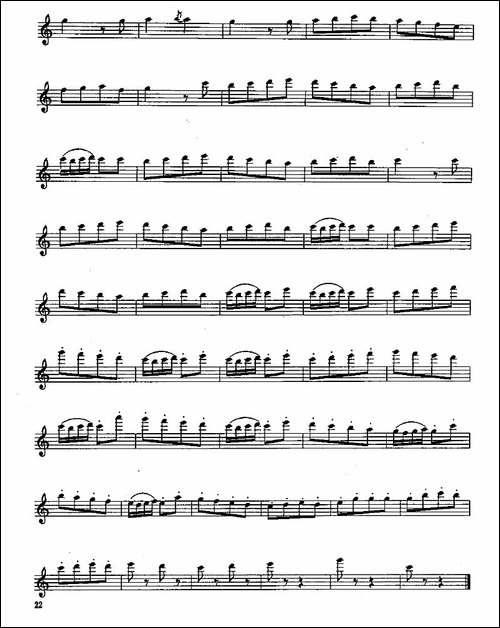 长笛三级考级曲谱-长笛五线谱|长笛谱